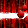 Glossy red bauble background — Vector de stock