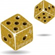 Gold mosaic dice and shadows — Stock Vector #7927196