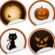 Stock Vector: Halloween stickers