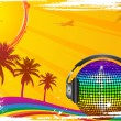 Hot tropical dance party — Stock Vector