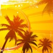 Royalty-Free Stock Vector Image: Hot tropical sunset