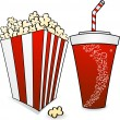 Pop corn and soda — Imagen vectorial