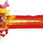 Spainish flag and football — Stock Vector