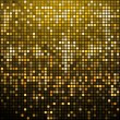 Stock Vector: Sparkling gold mosaic background