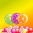 Sweets background — Imagen vectorial