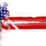 USA flag and football — Stock Vector #7929255