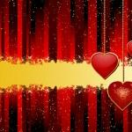 Valentine heart pendant background — Stock Vector