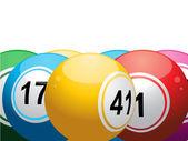 3D lottery or bingo balls — Stock Vector