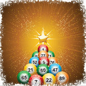 Bingo ball christmas tree — Stock Vector
