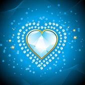 Diamond heart — Stock Vector