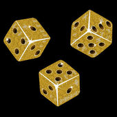 Gold mosaic dice — Stock Vector