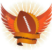 Grunge american football shield — Stock Vector