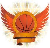 Grunge basketball shield — Stock Vector