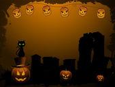 Halloween spooky background — Stock Vector