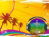 Horké tropické taneční párty — Stock vektor