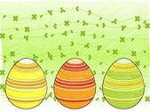 Line drawn easter eggs — Stock Vector