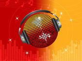 Fundo vermelho e laranja de discoteca — Vetorial Stock