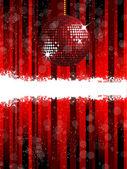 Red sparkling disco ball — Stock Vector