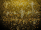 Sparkling gold mosaic background — Stock Vector