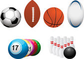 Sports and leisure elements — Stock Vector