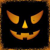 Spooky pumpkin face — Stock Vector