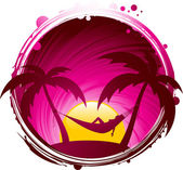 Tropical chill — Stock Vector