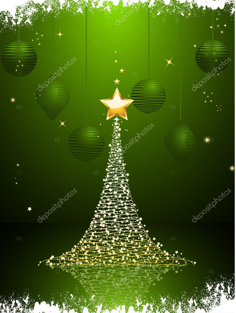 Green and gold christmas tree background portrait stock for Green and gold christmas tree