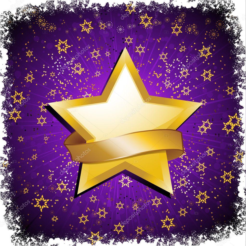 purple and gold celebration star stock vector. Black Bedroom Furniture Sets. Home Design Ideas