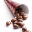 Almonds in chocolate — Stockfoto