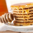 Waffle with honey — Stock Photo #6998871