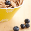 Cinnamon cereals with blueberries — Zdjęcie stockowe