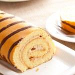 Sweet sponge roll dessert — Stock Photo #6999578
