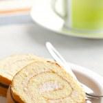 Sweet sponge roll dessert — Stock Photo #6999580