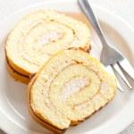 Sweet sponge roll dessert — Stock Photo #6999581