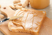 Peanut butter sandwich — Stock Photo