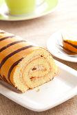 Zoete spons roll dessert — Stockfoto