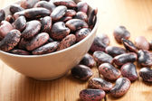 Beans in bowl — Stock Photo