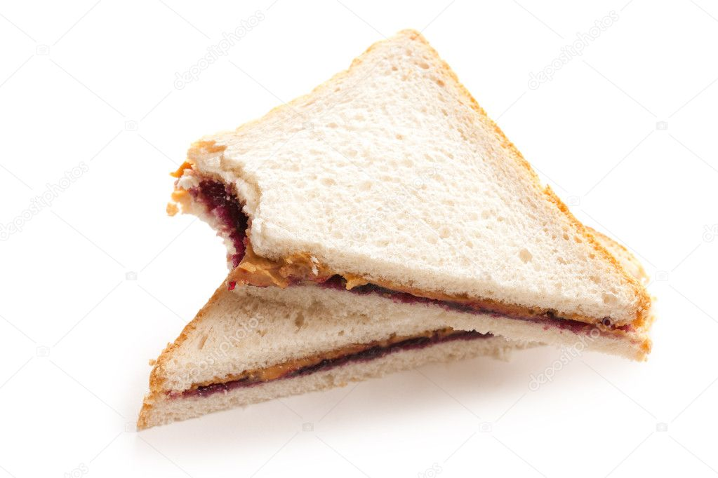 Photo shot of peanut butter and jelly sandwich — Stock Photo #6999497
