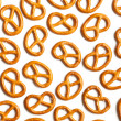 Pretzels on white background — Stock Photo