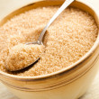 Brown sugar in bowl — Stock Photo