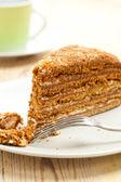 Sweet honey-cake — Stock Photo