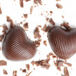 Chocolate hearts — Stock fotografie