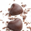 Chocolate hearts — Stock Photo