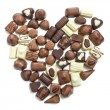 Chocolate pralines heart — Stock Photo #7109930
