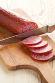 Fresh salami — Stock Photo
