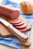 Fresh salami — Stock Photo