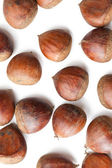 Chesnuts on white background — Stock Photo