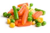 Mixed vegetables on white background — Stock Photo