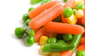 Mixed vegetables on white background — Stock Photo