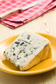 Blue cheese on plate — Stock Photo